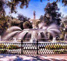 Forsyth Park Fountain by shuttermom