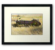 on the prairies Framed Print