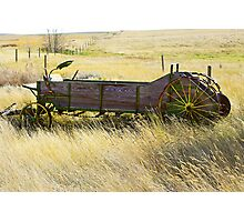 on the prairies Photographic Print