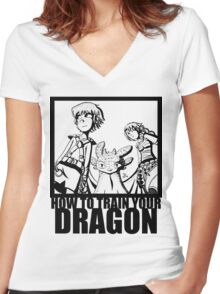 How to Train Your Dragon --Epic Angle  Women's Fitted V-Neck T-Shirt