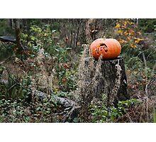 pumpkin face Photographic Print