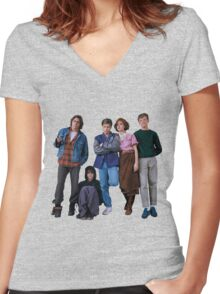 The Breakfast Club Crew! Women's Fitted V-Neck T-Shirt