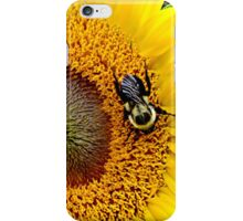 Sunflower with bee - phone case iPhone Case/Skin
