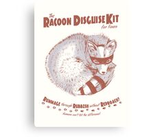 The Raccoon Disguise Kit for Foxes Canvas Print