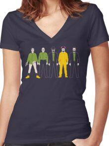 The Evolution of Walter White Women's Fitted V-Neck T-Shirt