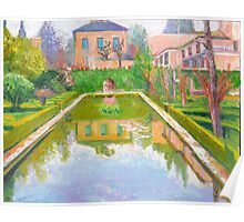 Alhambra Reflection Pool Poster