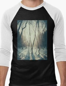 Peaceful Forrest Men's Baseball ¾ T-Shirt