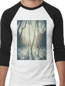 Peaceful Forrest Men's Baseball ¾ T-Shirt