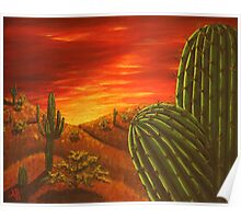 Arizona Sunset Painting Poster