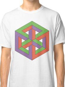 Penrose Cube - Green Purple Orange Classic T-Shirt