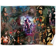 Conan The Barbarian Collage - By John Robert Beck Poster
