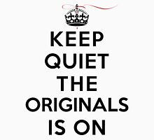 Keep Quiet The Originals is On (LS) Womens Fitted T-Shirt