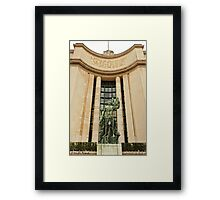 A Sculpture From Place Du Trocadero © Framed Print
