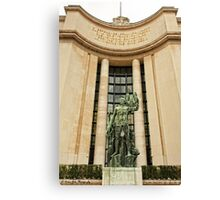 A Sculpture From Place Du Trocadero © Canvas Print