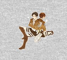 Attack on Titan - Eren Jaegar and Lance Corporal Levi Mens V-Neck T-Shirt