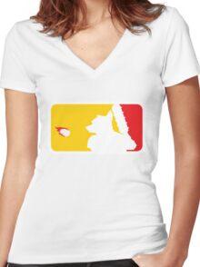 Major League Whack-Bat Women's Fitted V-Neck T-Shirt