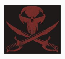 Under A Black Flag  - Red Sky - The Sticker by GrimmJack
