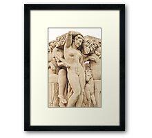 Sculptures In The Jardins Du Trocadero - 2 © Framed Print