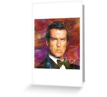 Bond, James Bond 5 (Square Version) - By John Robert Beck Greeting Card