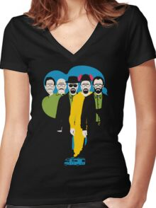 From Mr. chips to Scarface Women's Fitted V-Neck T-Shirt