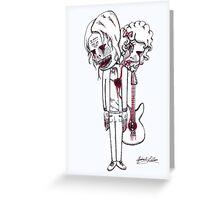 Kurt Cobain's Image of Fear Greeting Card