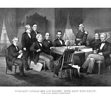 President Lincoln, His Cabinet, and General Scott by warishellstore