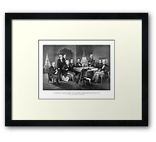 President Lincoln, His Cabinet, and General Scott Framed Print