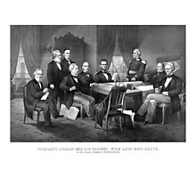 President Lincoln, His Cabinet, and General Scott Photographic Print