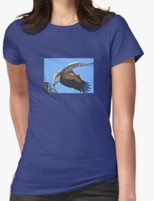White Stork Leaving Nest Wings Stretched For Flight T-Shirt