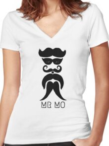 MR MO Women's Fitted V-Neck T-Shirt
