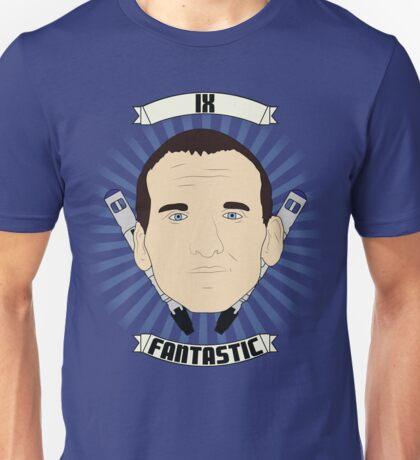 Doctor Who Portraits - Ninth Doctor - Fantastic Unisex T-Shirt