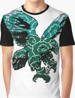 The swoop - Green Graphic T-Shirt