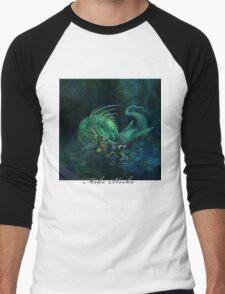 swamp dragon Men's Baseball ¾ T-Shirt