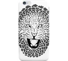 Leopard - Sketch - Greyscale iPhone Case/Skin