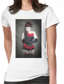 Red Orchids Womens Fitted T-Shirt