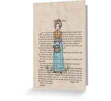 Pride and Prejudice chapter one. Elizabeth Bennet Greeting Card