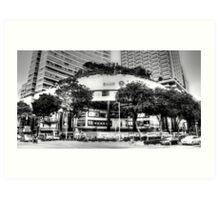 Orchard Road Singapore bw Art Print