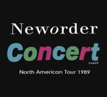 "New order ""Concert 1989 USA tour"" design shirt by Shaina Karasik"
