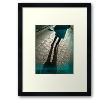 Barcelona Footpath Framed Print