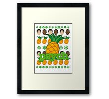 Psych TV Show Shawn Gus Pineapple Holiday Theme Framed Print