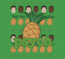 Psych TV Show Shawn Gus Pineapple Holiday Theme by miztayk