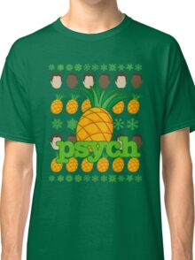 Psych TV Show Shawn Gus Pineapple Holiday Theme Classic T-Shirt