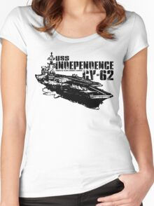 USS Independence CV-62 Women's Fitted Scoop T-Shirt