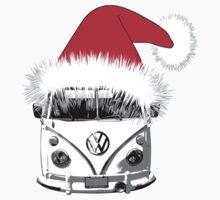 VW Camper Christmas hat Kids Tee