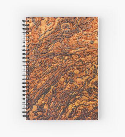 Yellow-brown marble texture. Vertical portrait orientation Spiral Notebook