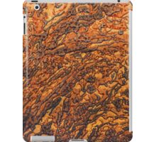 Yellow-brown marble texture. Vertical portrait orientation iPad Case/Skin