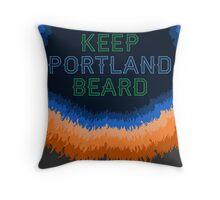 Keep Portland Beard Throw Pillow