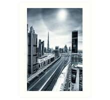 Empty streets of Dubai Art Print