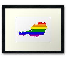austria gay map Framed Print