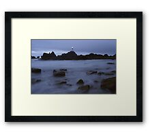 The mist of Corbiere Framed Print
